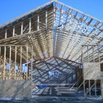 Oak point indoor pool house construction